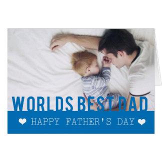 World Best Dad Photo Template Card