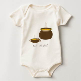 World' best eater!!! - Cauldron with hot soup Baby Bodysuit