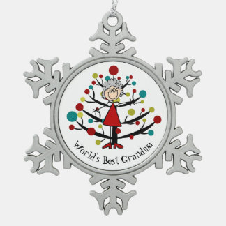World Best Grandma Snowflake Ornament