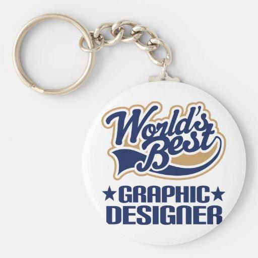 World Best Graphic Designer Keychains