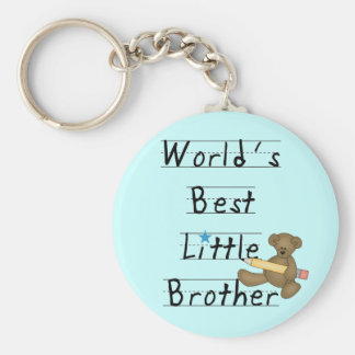World Best Little Brother Tshirts and Gifts Key Chain