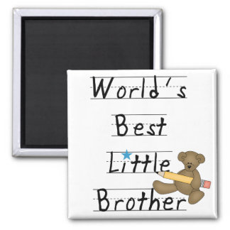 World Best Little Brother Tshirts and Gifts 2 Inch Square Magnet