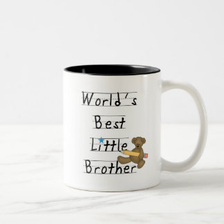 World Best Little Brother Tshirts and Gifts Two-Tone Coffee Mug