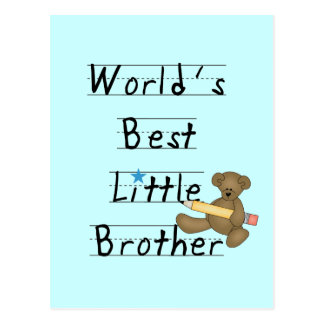 World Best Little Brother Tshirts and Gifts Postcard