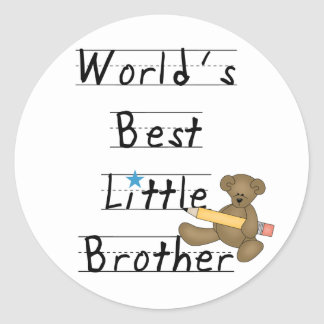 World Best Little Brother Tshirts and Gifts Classic Round Sticker