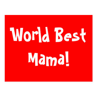 World Best Mama Postcard