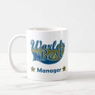 World Best Manager Classic White Coffee Mug