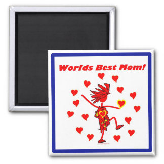 World Best Mom - Circle of Love Refrigerator Magnets