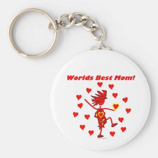 World Best Mom - Circle of Love Key Chain