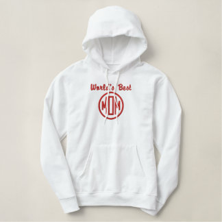 World Best Mom Embroidered Hoodie