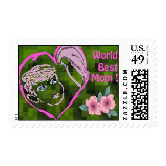 World Best Mom postage