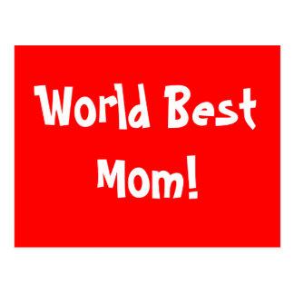 World Best Mom Postcard