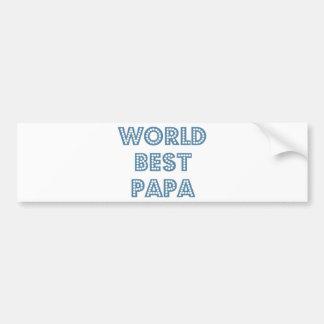 World Best Papa Bumper Sticker