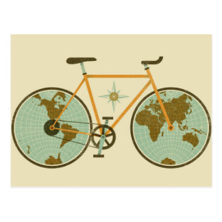 World Bicycle Art Postcard