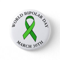World Bipolar Day March 30th Button