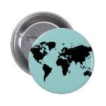 world black graphic map 2 inch round button