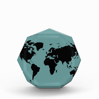 world black graphic map acrylic award