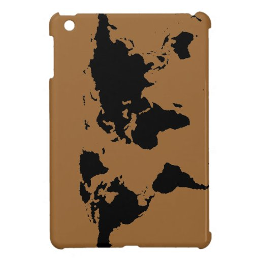 world black graphic map case for the iPad mini