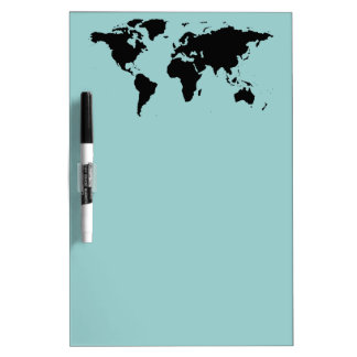 world black graphic map Dry-Erase board