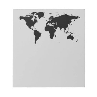 world black graphic map notepad