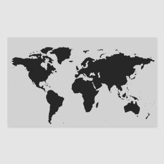 world black graphic map rectangle stickers