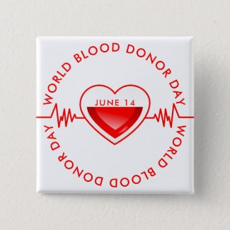 World Blood Donor Day Button