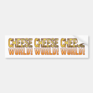 World Blue Cheese Bumper Sticker