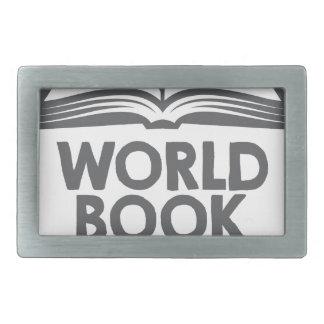 World Book Day - Appreciation Day Rectangular Belt Buckle