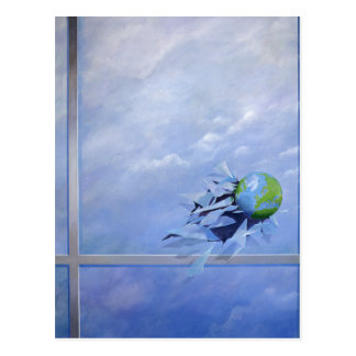 World Breaking Glass Postcard