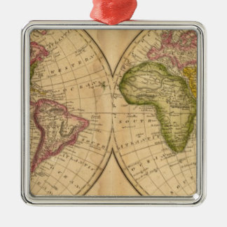 World by Worcester Metal Ornament