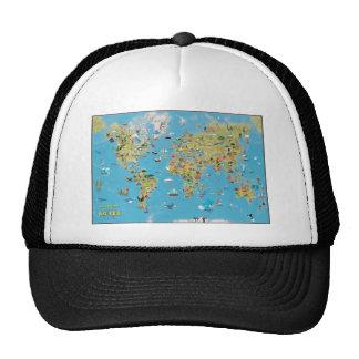 World Cartoon Map Trucker Hat
