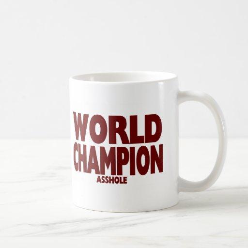 WORLD CHAMPION ASSHOLE (Large Mug) Classic White Coffee Mug