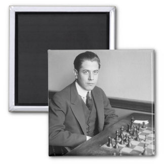 World Champion Chess Player, 1915 2 Inch Square Magnet