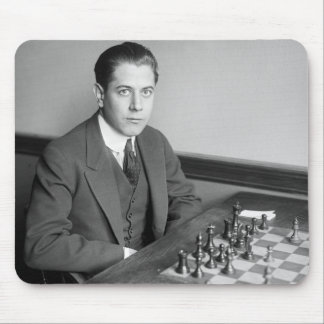 World Champion Chess Player, 1915 Mouse Pad