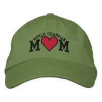 WORLD CHAMPION Heart design Embroidered Hats