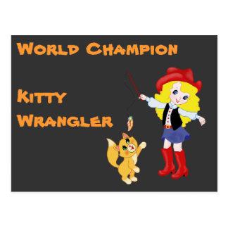 World Champion Kitty Wrangler Postcard