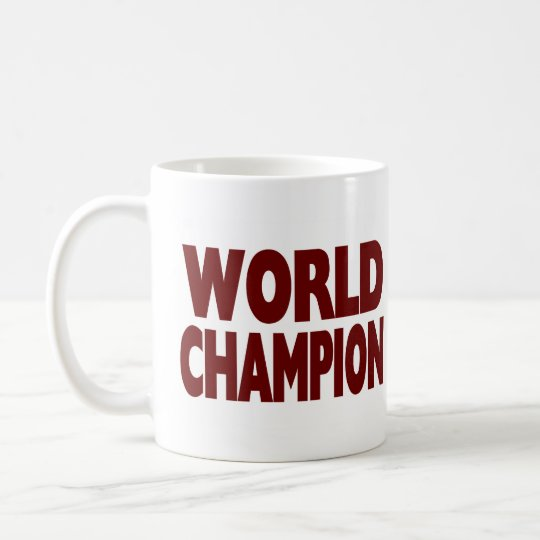 WORLD CHAMPION  (Large Mug) Coffee Mug