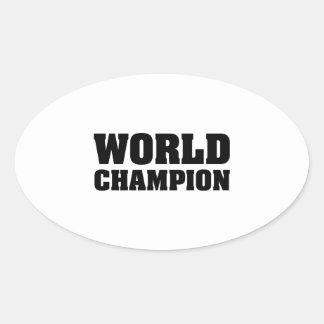 World Champion Oval Sticker