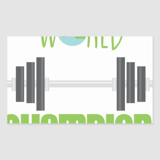 World Champion Rectangular Sticker