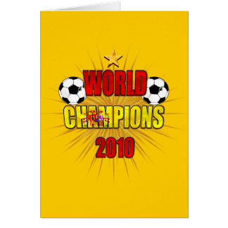 World Champions 2010 Spain Card