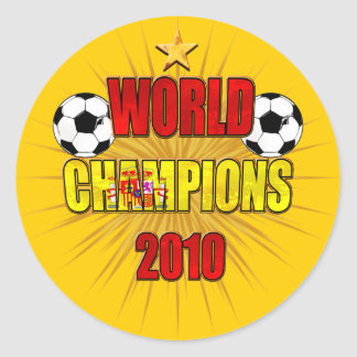 World Champions 2010 Spain Classic Round Sticker