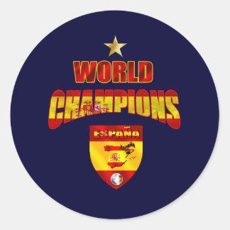 World champions España Classic Round Sticker