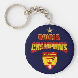 World champions España Basic Round Button Keychain