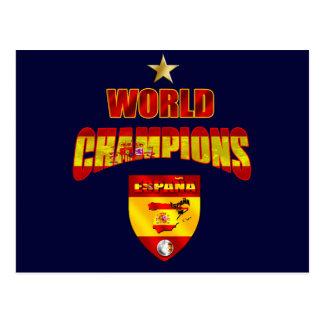World champions España Postcard