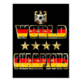 World Champions Germany Fans Flag 2014 Post Card