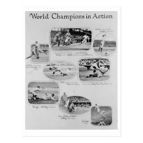 World Champions in Action Postcard