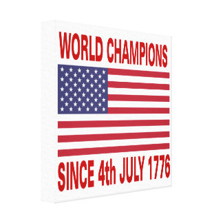 World champions since 1776 canvas print