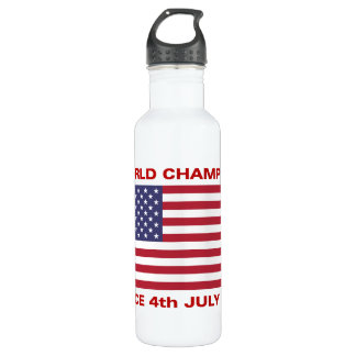 World champions since 1776 stainless steel water bottle