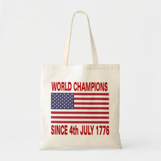 World champions since 1776 tote bag