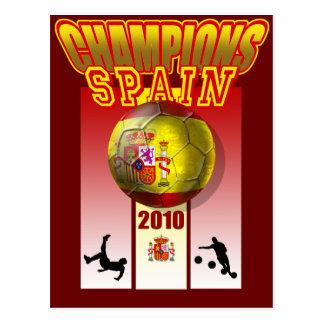 World Champions Spain 2010 Espana futbol Postcard